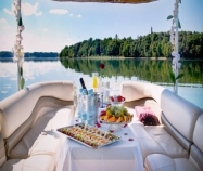 Romantic dinner on a boat